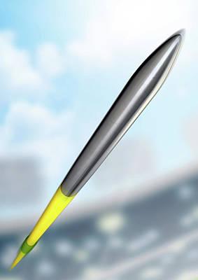 Turf Digital Art - Javelin In Day Stadium by Allan Swart
