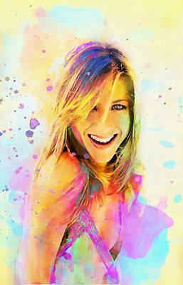 Jennifer Aniston Print by Elena Kosvincheva