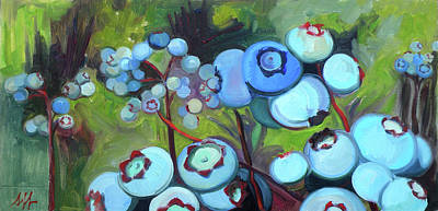 Blueberry Painting - Jersey Blues by Jennie Traill Schaeffer