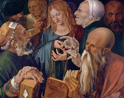 Jesus Art Painting - Jesus Among The Doctors by Albrecht Durer