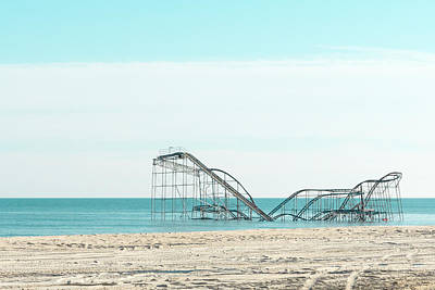 Roller Coaster Photograph - Jet Star In The Sea by Erin Cadigan