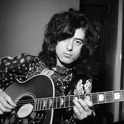 Jimmy Page Photograph - Jimmy Page 1970 by Chris Walter