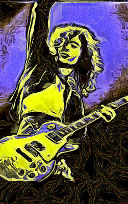 Robert Plant Digital Art - Jimmy Page by Riccardo Zullian