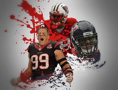 Jj Photograph - Jj Watt Texans by Joe Hamilton