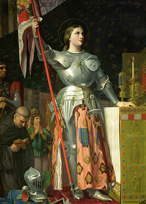 Joan Of Arc At The Coronation Of Charles Vii Print by Jean-Auguste-Dominique Ingres