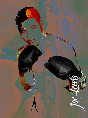 Boxer Mixed Media - Joe Louis Collection by Marvin Blaine