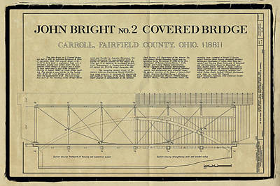 John Bright Covered Bridge Print by Jack R Perry