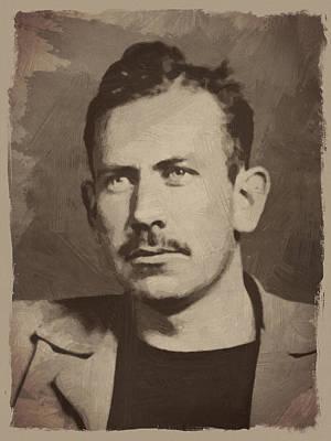 History Digital Art - John Steinbeck by Afterdarkness