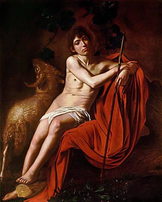 Caravaggio Painting - John The Baptist by Caravaggio