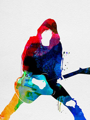 Johnny Watercolor Print by Naxart Studio