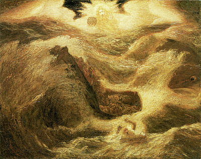 Raging Photograph - Jonah by Albert Pinkham Ryder