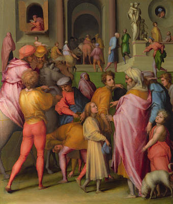 Bible Painting - Joseph Sold To Potiphar by Jacopo Pontormo
