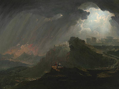 Joshua Commanding The Sun To Stand Still Print by John Martin