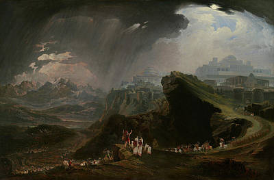 Command Painting - Joshua Commanding The Sun To Stand Still Upon Gibeon by John Martin