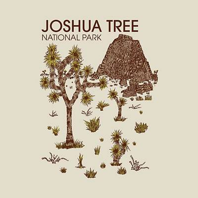 Joshua Tree National Park Print by Hinterlund