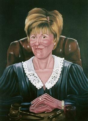 Judge Judy Print by Susan Roberts