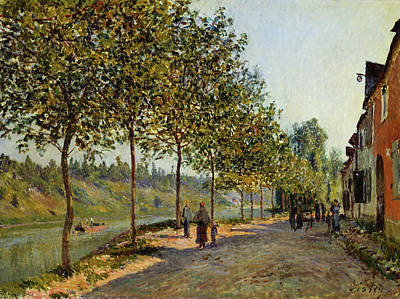 Streetscape Painting - June Morning In Saint-mammes by Alfred Sisley