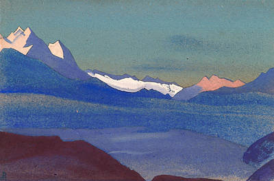 Ice Painting - Kashmir by Nicholas Roerich