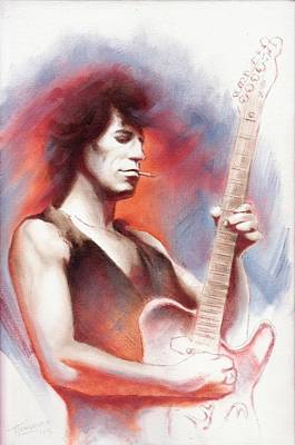 Keith Richards Drawing - Keith Richards by Thomas Langeveld