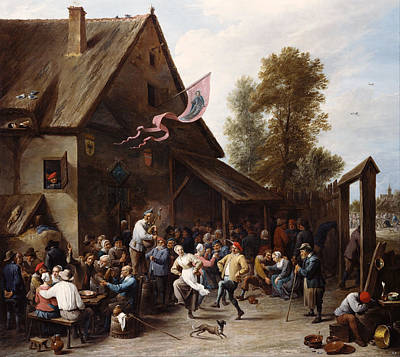 Dance Painting - Kermis On St. George's Day by David Teniers the Younger