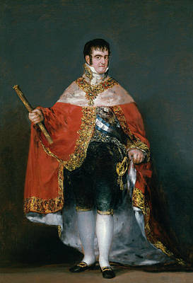Standing Painting - King Fernando Vii With The Robes Of State by Francisco Goya