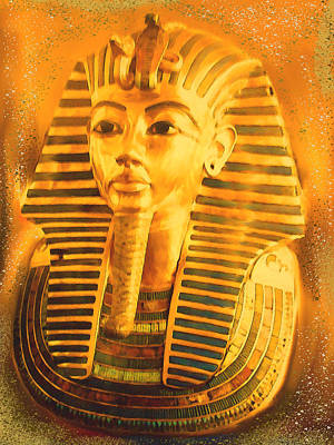 Tut Mixed Media - King Tut by Kathy Franklin