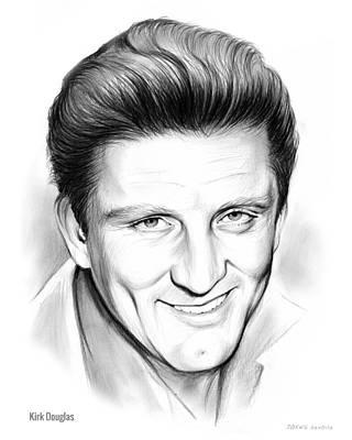 Hollywood Drawing - Kirk Douglas by Greg Joens