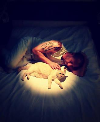 Flame Point Painting - Kitty Cuddles by Cyryn Fyrcyd