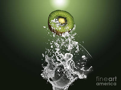 Kiwi Splash Print by Marvin Blaine
