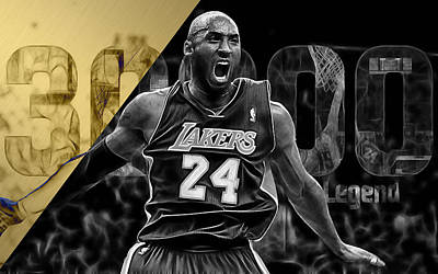 Kobe Bryant Collection Print by Marvin Blaine