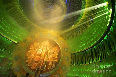 Goddess Durga Photograph - Kolkata India Durga Puja Festival Decorated Pandal by Rudra Narayan Mitra