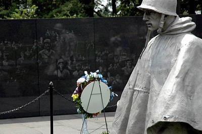 Dog Photograph - Korean War Memorial by LeeAnn McLaneGoetz McLaneGoetzStudioLLCcom