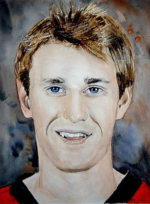 National Hockey League Painting - Kyle Turris by Betty-Anne McDonald