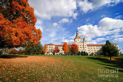 La Roche College On A Fall Day Print by Amy Cicconi