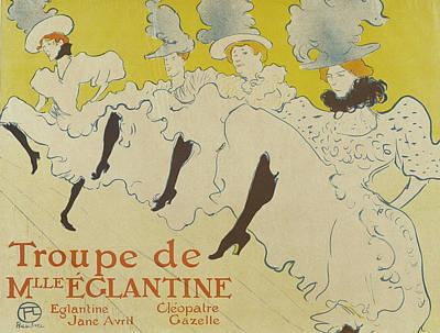 Lithograph Painting - La Troupe De Mademoiselle Eglantine by Henri de Toulouse-Lautrec