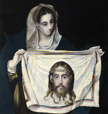 Catholic Painting - La Veronica by El Greco