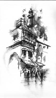 Lahore Print by M Kazmi