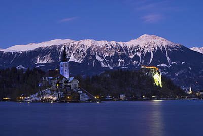 Winter Photograph - Lake Bled by Ivan Slosar