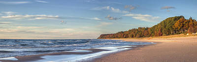 Northern Michigan Photograph - Lake Michigan In The Fall by Twenty Two North Photography