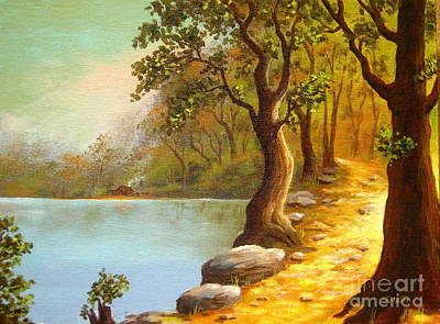 Lakeside Path Print by Shasta Eone