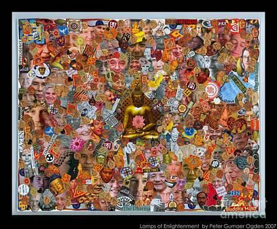 Tibetan Buddhism Mixed Media - Lamps Of Enlightenment by Peter Gumaer Ogden