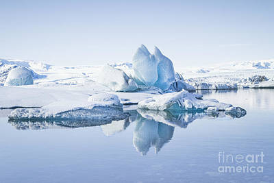 Land Of Ice Print by Evelina Kremsdorf