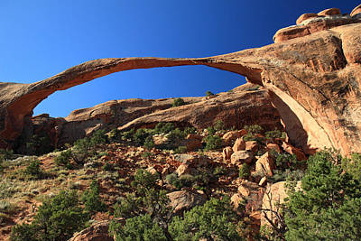Sunset Photograph - Landscape Arch In Arches National Park by Pierre Leclerc Photography