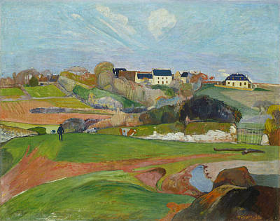 Landscape At Le Pouldu Print by Paul Gauguin