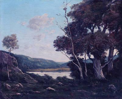 Landscape Print by Henri-joseph Harpignies