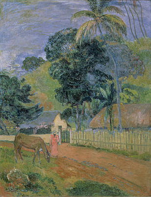 Animals Painting - Landscape by Paul Gauguin