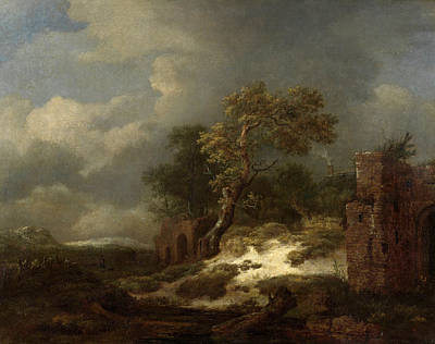 Ruin Painting - Landscape With Ruins by Jacob van Ruisdael