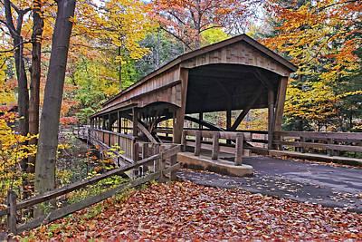Fences Photograph - Lanterman's Covered Bridge by Marcia Colelli
