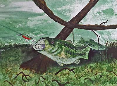 Largemouth Bass Original by Donald Paczynski