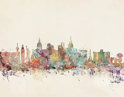 Colourfull Painting - Las Vegas Skyline by Bri B